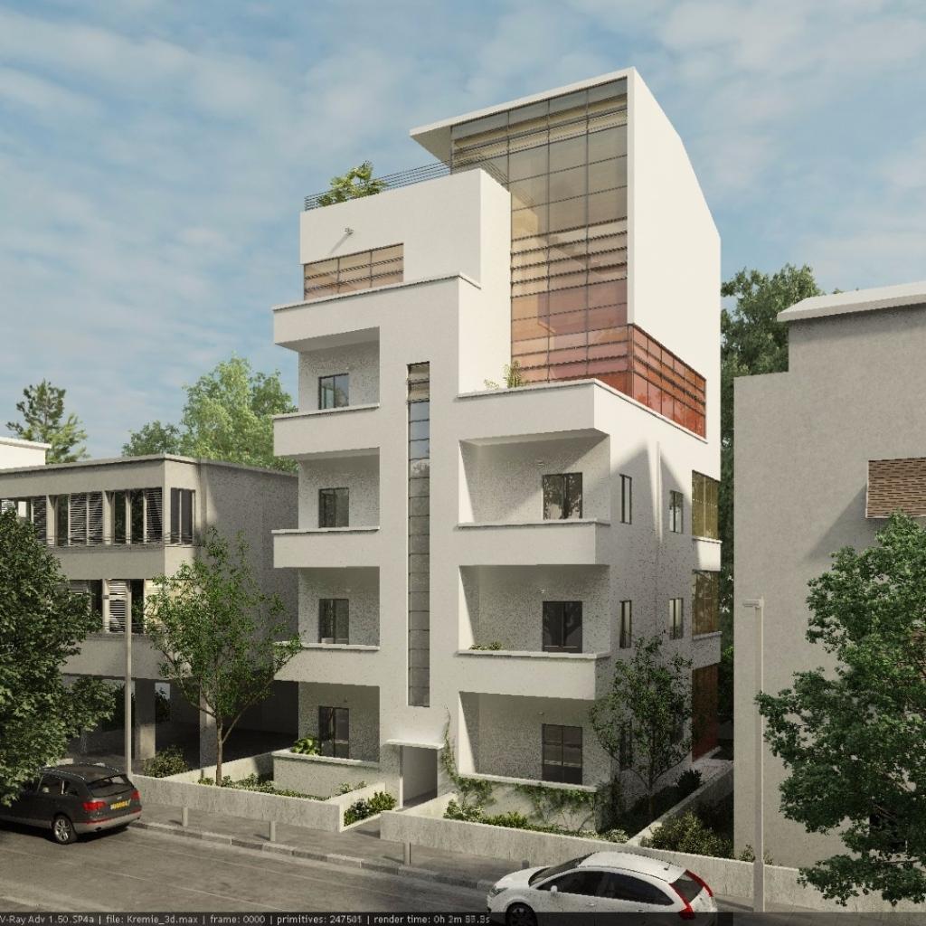 למכירה דירת גן, בסמטאות רוטשילד, קרוב להבימה, בבניין באוהאוס לשימור.